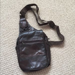 Leather sling backpack!!, used for sale